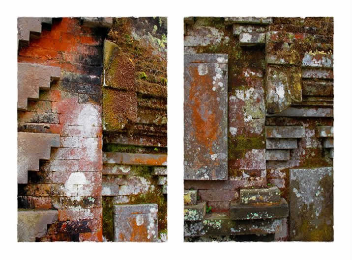 Bali Temple Wall Diptych I